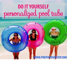 Go check out The Monogrammed Life and see how you can DIY a personalized pool tube! #summer #marleylilly #TML