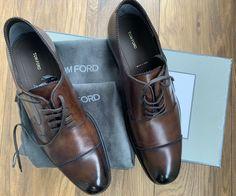 Genuine Tom Ford Leather Shoes - Size 9 Uk · $550.00 Loafer Shoes, Loafers, Tom Ford Shoes, Brown Brogues, Shoe Deals, Derby, Grid, Toms, Dress Shoes