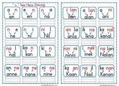 """"""" n """" Sesi Hece Oluşturma Etkinliği pdf formatında renkli heceler olarak 2 sayfa şeklinde pdf formatında ekte sunulmuştur. Sitedeki Tüm çalışmalarımı kendi emeğimle özgün.. Learn Turkish, Alphabet, Homeschool, Printables, Education, Learning, Google, Alpha Bet, Print Templates"""