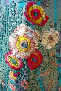 coquita cute chic floral embroidery design for fashion , jackets , soft furnishings for traditional mexican , frida style , gypsy or boho lovers
