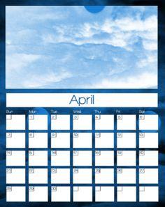 April 2013 Calendars Monthly