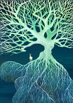 INTERRAMIFICATION  [noun]  the union of branches to form a network; theinterweaving of branches.