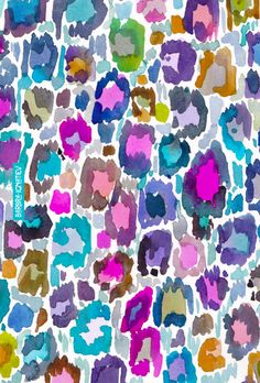 Daily Color #177: Leopard Print Party | #leopardprint #colorful #watercolor