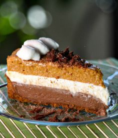 Recipe for Chocolate Pumpkin Mousse Pie