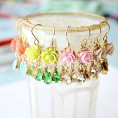 Mini Rose Little Chandeliers by NestPrettyThingsShop on Etsy, $24.00