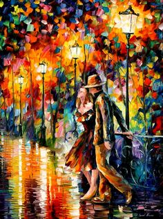 TEMPTER by Leonidafremov.deviantart.com - I love the abstract element of this painting as well as the bright colours and bold brush strokes.