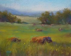 My Tip for Painting Summer Greens, painting by artist Karen Margulis