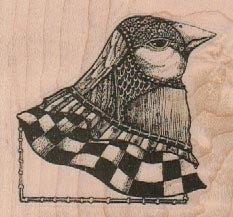 mounted rubber  stamp   Mounted Bird Head    by pinkflamingo61, $9.25