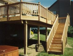 second story deck with stairs - Google Search