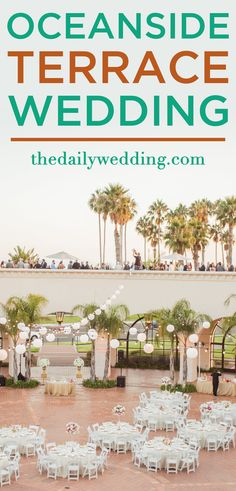 Can't get over how pretty this is! View the full wedding here: http://thedailywedding.com/2016/01/13/oceanside-terrace-wedding-justin-nina/