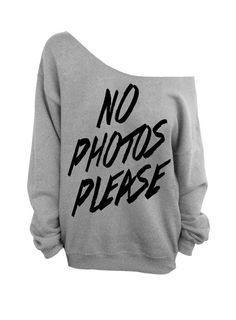 "Use coupon code ""pinterest"" No Photos Please - Gray Slouchy Oversized Sweatshirt by DentzDesign"
