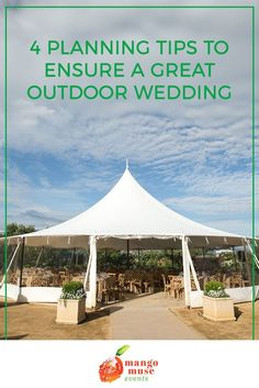 We love outdoor weddings! They're naturally beautiful, and during COVID, they're the safer option too.⁠ ⁠ But, in order to have a great outdoor wedding, your planning will need to take some important factors into consideration.⁠ ⁠ Otherwise, you could end up with a not-so-great experience for you and your guests. ⁠ Click to learn 4 useful planning tips from the wedding planning pros at Mango Muse Events to ensure that your outdoor wedding is great! #outdoorwedding #weddingtips Wedding Venues Beach, Outdoor Wedding Venues, Wedding Vendors, Destination Wedding, Wedding Prep, Wedding Advice, Wedding Planning Tips, Wedding Columns, Free Wedding