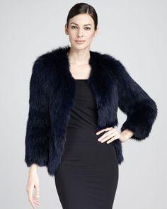Tasha Tarno Knitted Fox Jacket - Neiman Marcus
