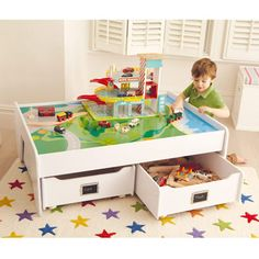 Multipurpose Play Table - White - Our Abbeville Playroom - Create the Look - gltc.co.uk