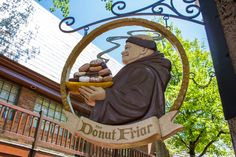 Donut Friar - Tucked away in The Village Shops in downtown Gatlinburg, is an affordable treat worthy of your visit. In addition to the baked items, The Donut Friar features a coffee bar with coffee, espresso, cappuccino, latte, and other common espresso-based drinks.