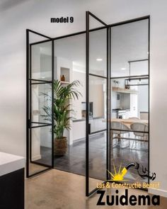 Black steel doors - Home Style At Home, Casa Clean, Interior Architecture, Interior Design, Interior Ideas, Steel Doors, Internal Doors, Living Room Kitchen, Kitchen Walls