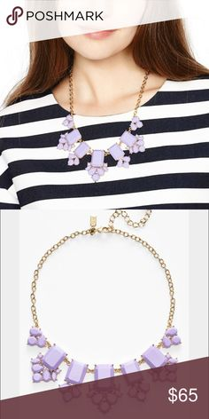 Kate Spade LILAC Purple Gold Embellished Necklace This gorgeous statement necklace is simple yet sophisticated. Add a touch of lavender to your wardrobe. COMING SOON kate spade Jewelry Necklaces