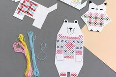 Шаблоны для вышивания крестиком. Вышивка для детей | Baby journal