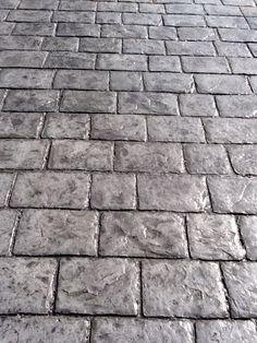 cobblestone stamped concrete