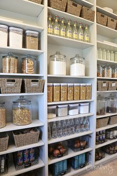 2019 UV Parade of Homes Recap Part 2 Large pantry with floor to ceiling open storage Alternative and practical home organisation for The Indie Practice Pantry Organisation, Pantry Room, Pantry Shelving, Kitchen Pantry Design, Kitchen Organization Pantry, Diy Kitchen, Kitchen Decor, Organized Pantry, Awesome Kitchen