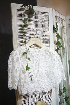 Cropped Lace T Shirt Top   Catherine Deane Bridal Seperates