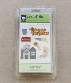 Cricut Lite Handy Man Cartridge Die Cutting Tools Houses House Warming 2000160 #Cricut