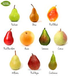10 Types of Pear 637 733 Pear Fruit, Fruit And Veg, Fruits And Vegetables, Fruit Fruit, Red Pear, Apple Pear, Fruit Recipes, Whole Food Recipes, Pear Recipes