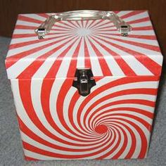 Vintage 45 rpm Record Storage Box Psychedelic by That70sShoppe