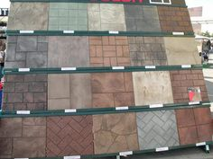 Concrete Design Options Stamped concrete uses patterns that mimic tile, stone, rock, wood and other Stamped Concrete Patterns, Stamped Concrete Driveway, Concrete Patio Designs, Cement Patio, Concrete Driveways, Concrete Floors, Concrete Stamping, Concrete Pool, Concrete Texture