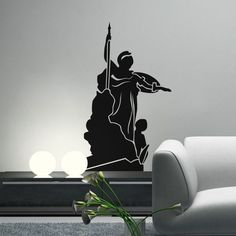 Wall decals are the latest indoor decor fad. Styled to thrill, this visually brilliant Athena Wall Decal will leave no stones unturned to give a grand look to your décor plan. Available is different colours and sizes it's a wall art to cherish. SMALL   :- 15 X 24 - IN INCHES MEDIUM :- 24 X 40 - IN INCHES LARGE   :- 30 X 48 - IN INCHES