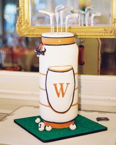 "See the ""Tee Up"" in our Groom's Cake Ideas That Were a Slice of Life at These Celebrations gallery"