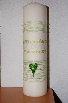 Hochzeitskerze, Traukerze von elinsArt auf DaWanda.com