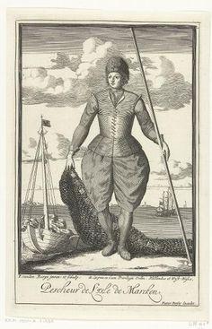 Marken, Fisherman by Pieter van den Berge, 1669-1689 - Het Rijksmuseum Amsterdam #NoordHolland #Marken