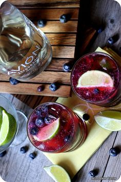 Blueberry Lime Smash {Mind Over Batter} -- Replace Tequila with Whiskey