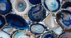 Blue Agate   4 mm thick   Veneer - Backlit   BLS004