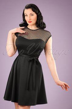 Vintage chic navy full skirt dress 102 31 16141 20150713 008 plaatsen om te bezoeken - Dressing liefde ...