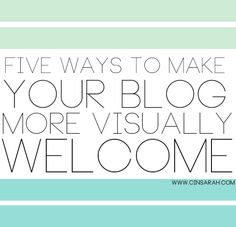 A Beautiful Exchange: 5 ways to make your blog more welcoming!