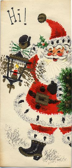 Jolly Santa | Vintage cards I purchased on Ebay a few years … | Flickr