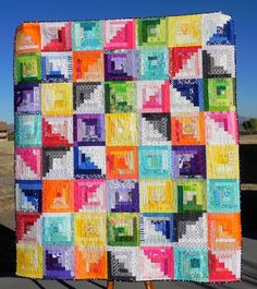 the confused quilter: Scrappy Stash Quilt FINISHED!