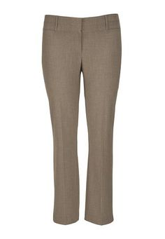 the smart plus size trouser in mocha with slimming fit (original price, $49) available at #Maurices