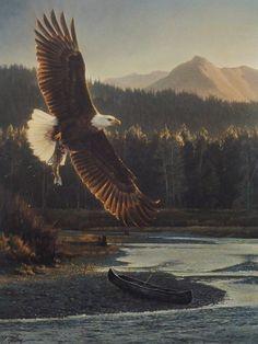 Nancy Glazier The Fisherman Eagle Print-Signed