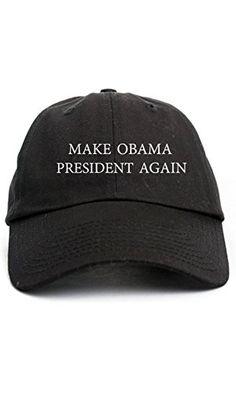 9aee4d5930391 Make Obama President Again Dad Hat Baseball Cap Unstructured New - Black  Obama President