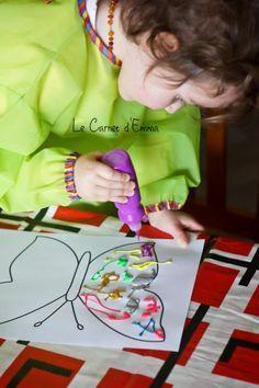 Activité manuelle Enfant 2-3 ans Papillon, peinture, symétrie Plus
