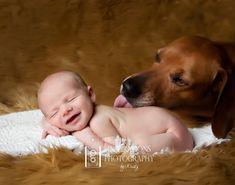 E este que gosta de umas boas lambidas: | 24 recém-nascidos que tiveram que compartilhar os holofotes em suas primeiras sessões de fotos