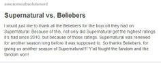 Supernatural vs Beliebers. LOL