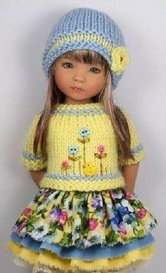 Knitting Dolls Clothes, Crochet Doll Clothes, Knitted Dolls, Doll Clothes Patterns, Girl Dolls, Baby Dolls, Effanbee Dolls, Crochet Dolls Free Patterns, Lifelike Dolls