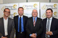 Avec Nicolas Demange ( Medias Pack ), Philippe Labat ( Président de Prestige & Excellence ), Jérome Marbot ( Avocat au barreau de Pau ) et Charles Pelanne ( secrétaire départemental de l'UDI ).