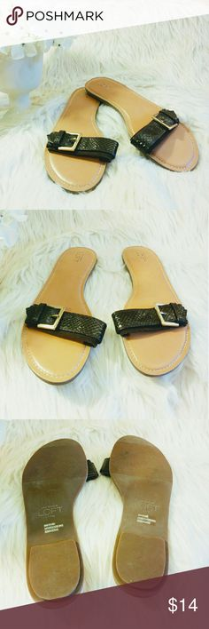 🔹Ann Taylor Loft🔹 Cute sandals by Ann Taylor Loft.  ⚪Faux leather/ and faux suede ⚪Color: dark chocolate brown/camel  ⚪Size: 10m  🌟 I accept REASONABLE offers ✨ 💠 You receive %15 off 2+ bundles 💕 💫 Next day shipper 💫  HAPPY POSHING 🍹 Ann Taylor Shoes Sandals