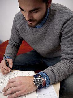 #montre #homme #iwc pour un look lifestyle