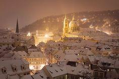 Prague in Winter.